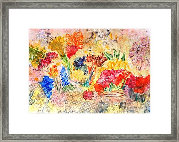 Saturday Flower Market Framed Print by John Vandebrooke