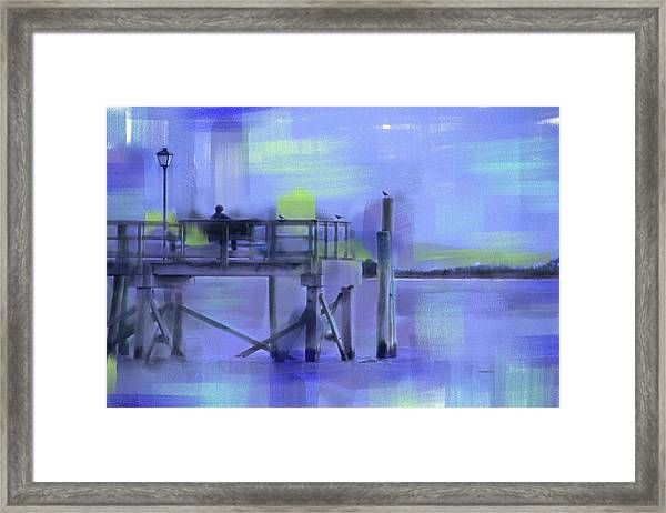 Framed Print featuring the digital art Saturday Idyll by Gina Harrison