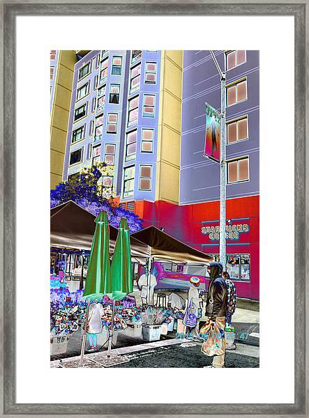 Saturday Market Framed Print