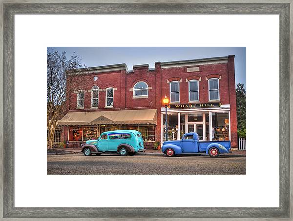 Framed Print featuring the photograph Saturday Morning On Main Steet by Williams-Cairns Photography LLC