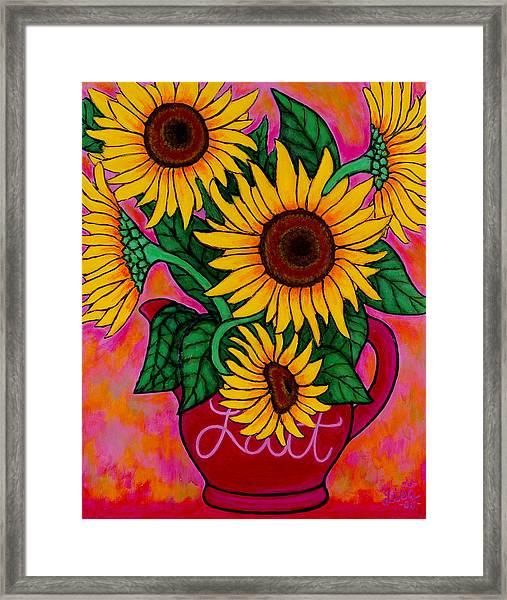 Saturday Morning Sunflowers Framed Print