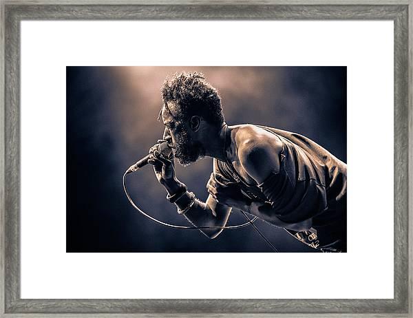 Saul Williams Framed Print