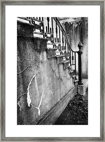Savannah Stairway Black And White Framed Print