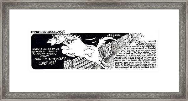 Save Myself Fpi Cartoon Framed Print