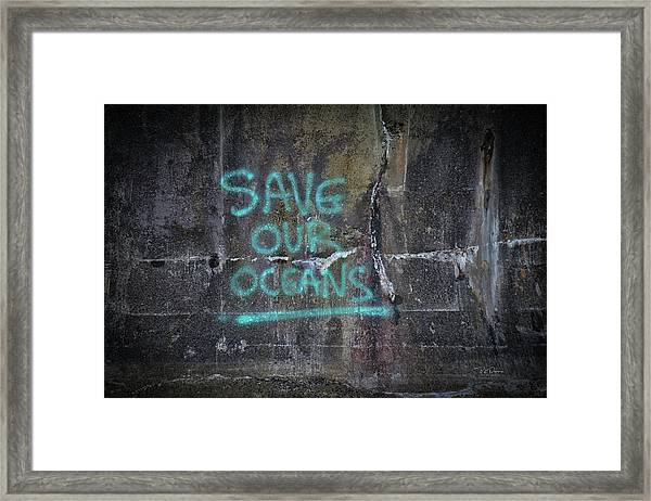 Save Our Oceans Framed Print