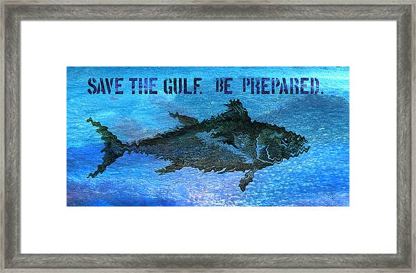 Save The Gulf America 2 Framed Print