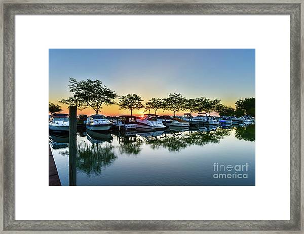 Sawmill Creek Morning Framed Print