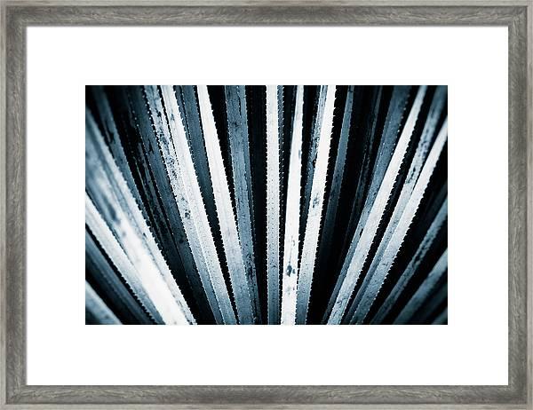 Sawtooth Framed Print