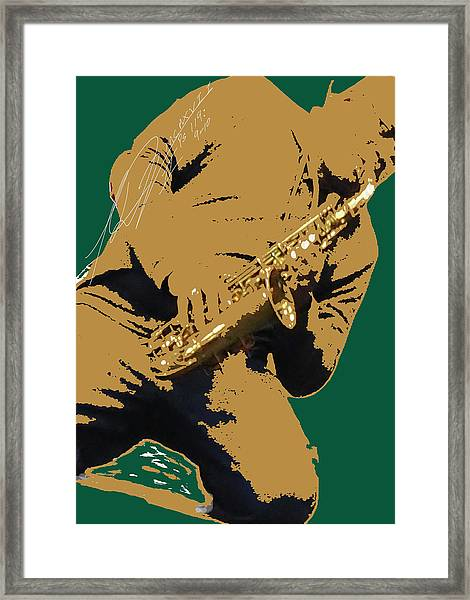 Saxual Passion Framed Print