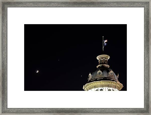 Sc State House Dome And Conjunction Framed Print