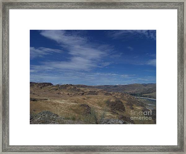 Scablands At Grand Coulee Framed Print