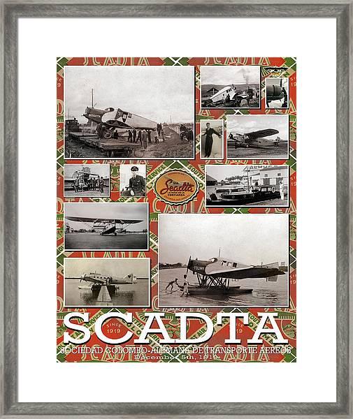 Scadta Airline Poster Framed Print