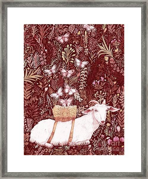 Scapegoat Healing Tapestry Print Framed Print