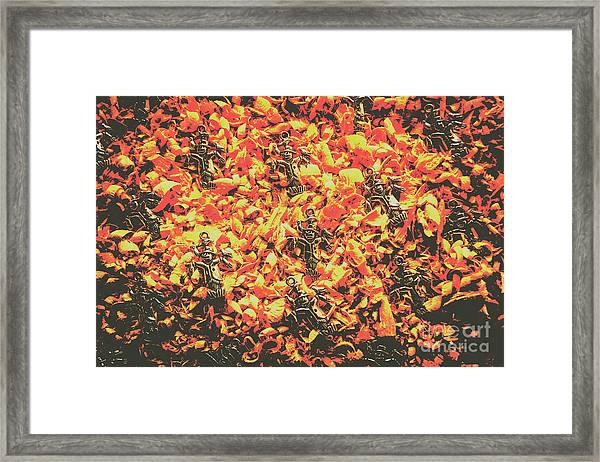 Scarecrows From Fires Burn  Framed Print