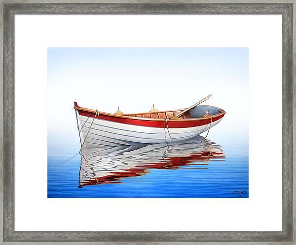 Scarlet Reflections Framed Print