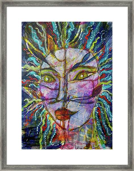 Scarred Beauty Framed Print