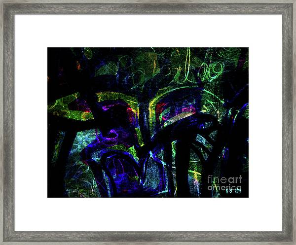 Scary Face-1 Framed Print