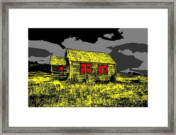 Scary Farmhouse Framed Print