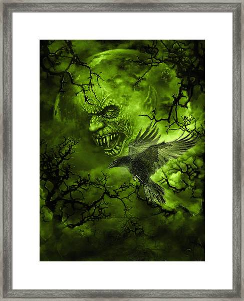 Scary Moon Framed Print