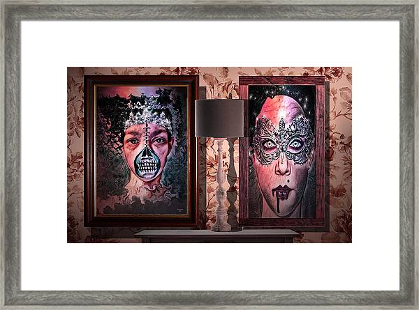 Scary Museum Wallart Framed Print