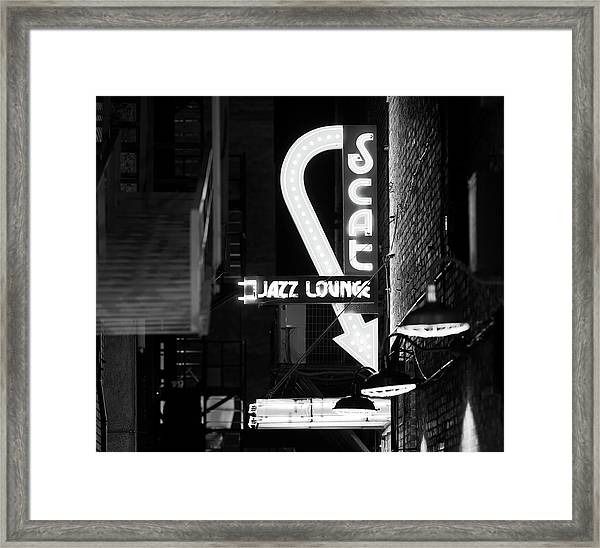 Scat Jazz Bw 11217 Framed Print