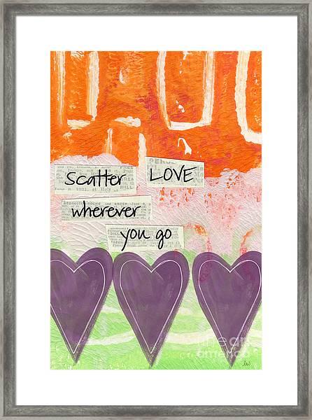 Scatter Love Framed Print