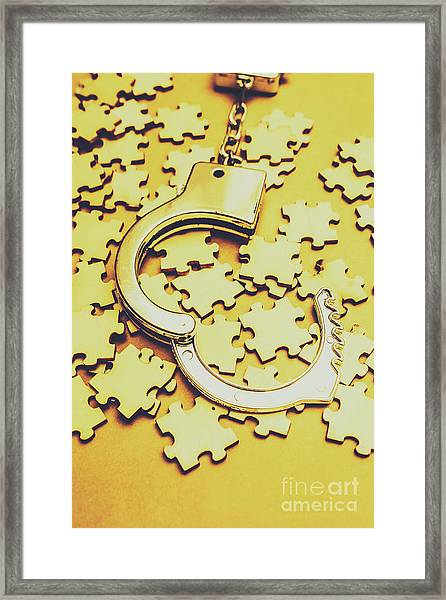 Scattered Clues In A Unsolved Investigation  Framed Print