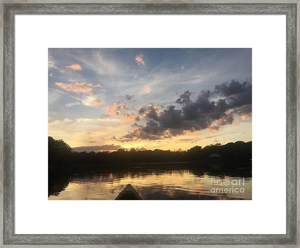 Scattered Sunset Clouds Framed Print