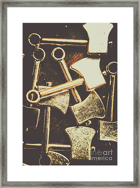 Scattering Axes Framed Print