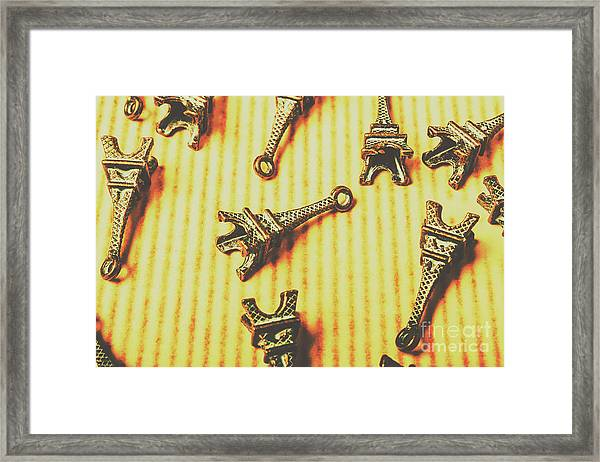 Scatterings From The City Of Romance Framed Print