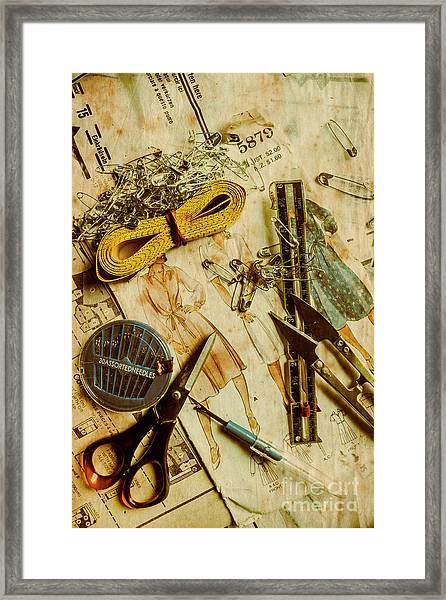 Scene From A Fifties Craft Room Framed Print