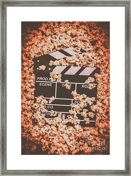 Scene From A Film Production Framed Print
