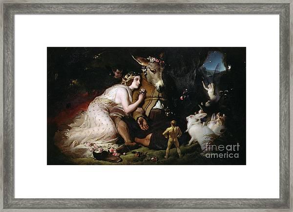 Scene From A Midsummer Night's Dream Framed Print