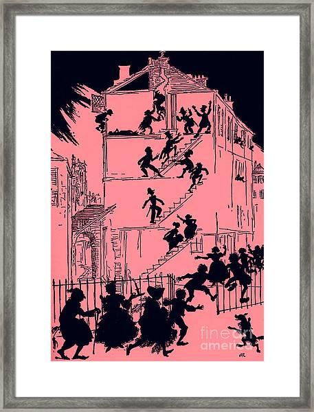 Scene From Murder In The Rue Morgue By Edgar Allan Poe Framed Print