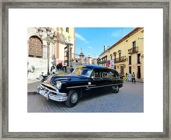 Funeral Car In Guanajuato Framed Print