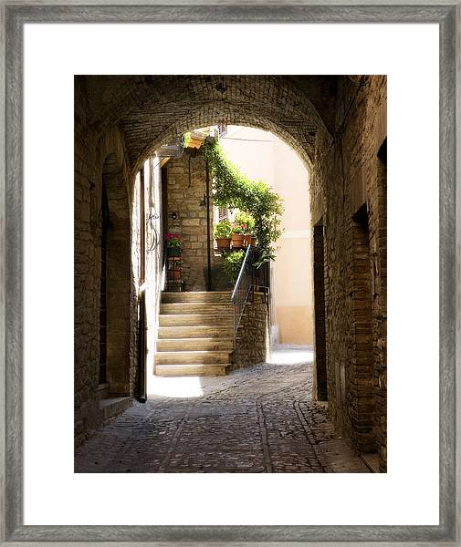 Scenic Archway Framed Print