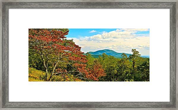 Scenic Overlook Blue Ridge Parkway Framed Print