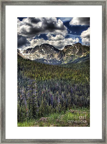 Scenic View From The Highway Framed Print