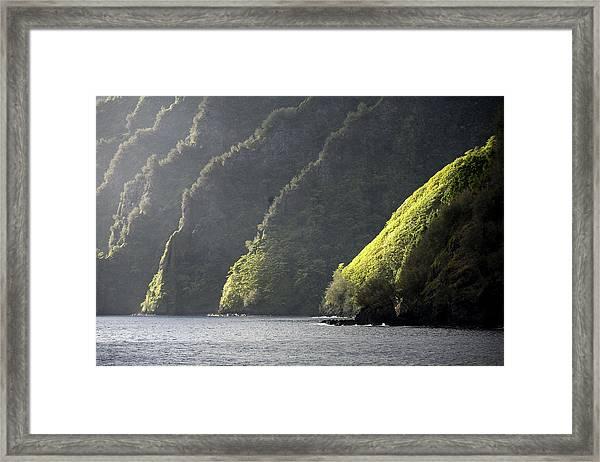Scenic View Of Bay Of Virgins, Fatu Framed Print