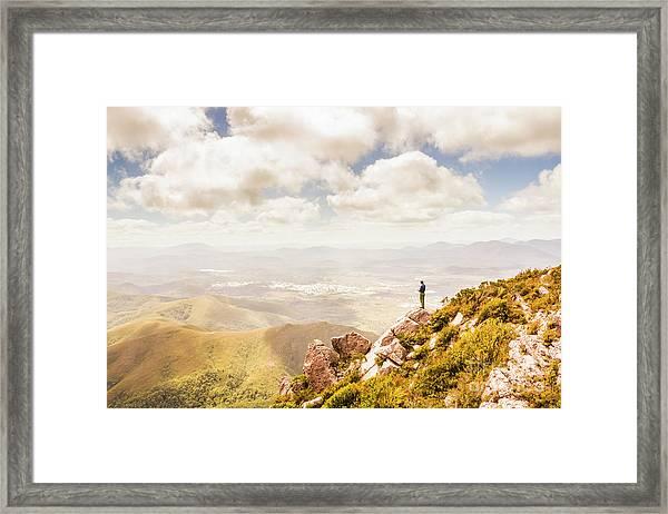 Scenic View Of Mt Zeehan, Tasmania, Australia Framed Print