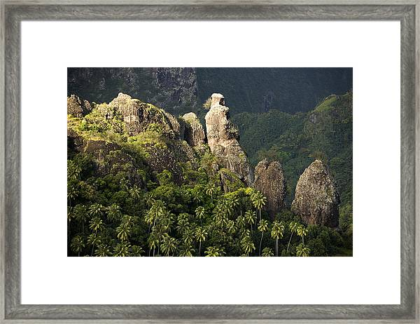 Scenic Views On Fatu Hiva Island Framed Print