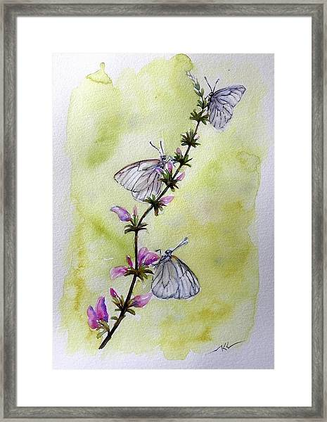 Framed Print featuring the painting Scent Of Spring by Katerina Kovatcheva