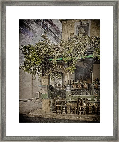 Framed Print featuring the photograph Athens, Greece - Scholarcheion by Mark Forte