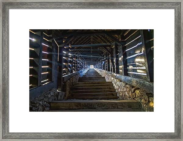Scholar's Stairs Sighisoara Framed Print