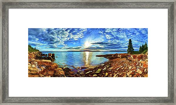 Schoodic Point Cove Framed Print