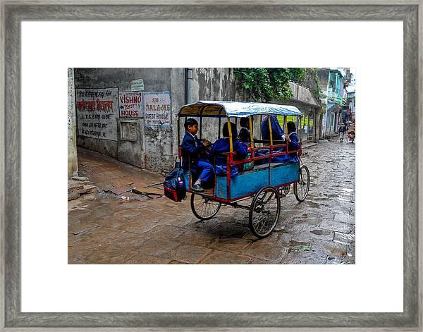 School Cart Framed Print