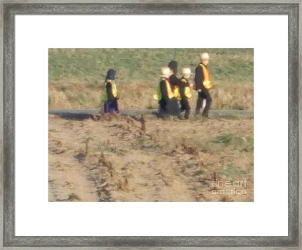 School Day Is Over Framed Print