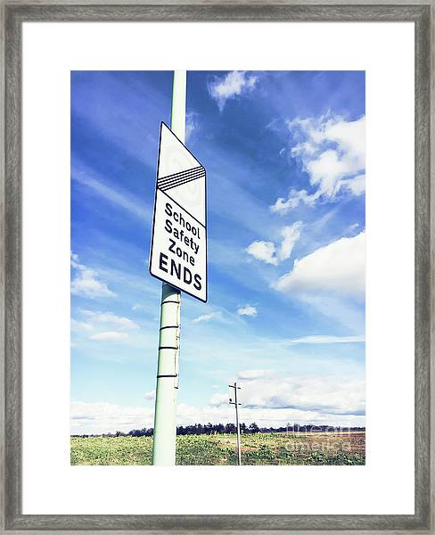 School Safety Sign Framed Print