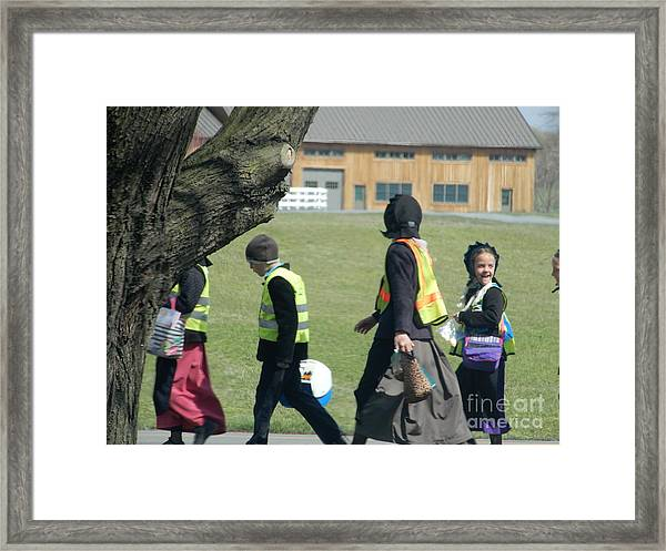 School's Out- Four Framed Print