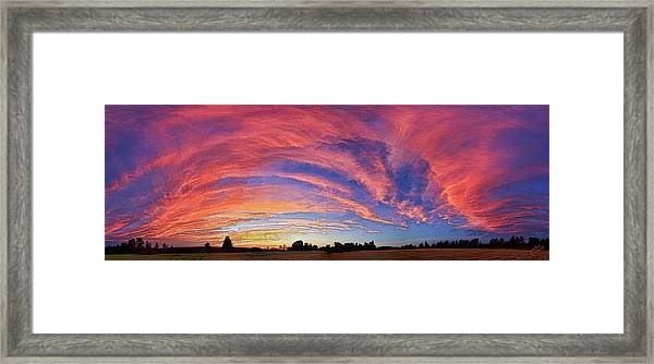 Schoolyard Sunset 2 Framed Print